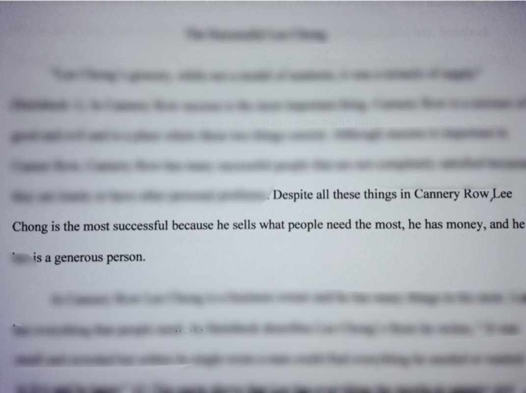 thesis statement for cannery row essay picture